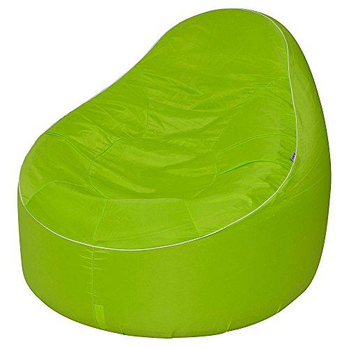Avenli Pouf Lounge 118x110x90 cm Outdoor Indoor Sofa Sitzsack Sitzkissen Sessel Lounge robust aufblasbar gewebeverstärkter Bezug wasserfest wetter- UV- und schimmelbeständig