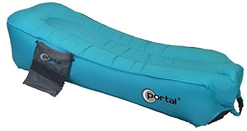 Portal Jersey Bag - Luft-Sofa 190x70x30 cm aufblasbare Liege Air Lounger mit Packsack Mobiles Camping-Liege Gartenliege Sitzsack Oder Sitzkissen für Camping Strand Garten Freizeit