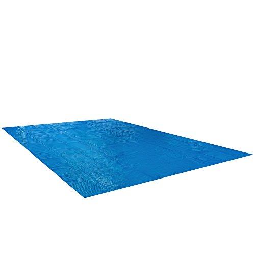 Arebos Pool Solarfolie in verschieden Größen rund oder eckig große Materialstärke von 400 μmmy  04 mm Eckig 6 x 4 m
