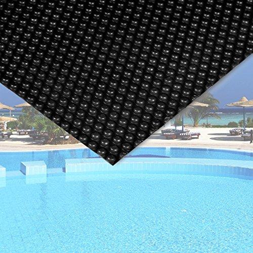 Wiltec Pool Solarfolie 5x8m schwarz Poolabdeckung Solarplane Poolheizung