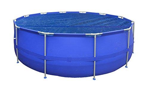 Jilong Solar Pool Cover - Runde Solarplane schwimmende Poolabdeckung Stahlrahmenpool Solarfolie für Pools mit Ø 360-366 cm Solarabdeckplane Poolheizung
