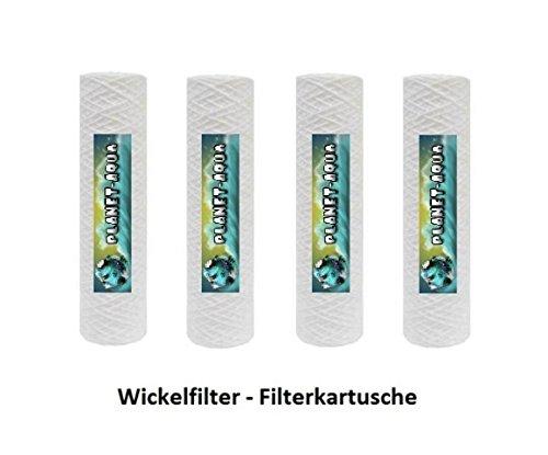 10 Wasserfilter Kartusche Ersatzfilter Sedimentfilter aus Polypropylen WICKEL Filter 10 Zoll Feinheit 20µ für Osmoseanlage Umkehrosmose Filteranlage Filtergehäuse Trinkwasser Brunnenwasser Pumpenfilter Vorfilter Sandfilter
