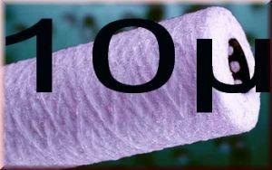 10 Wasserfilter Kartusche Polyprophylen WICKEL Filter 10 Zoll Feinheit 10µ