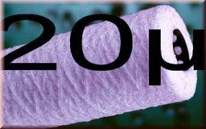 10 Wasserfilter Kartusche Polyprophylen WICKEL Filter 10 Zoll Feinheit 20µ