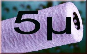 10 Wasserfilter Kartusche Polyprophylen WICKEL Filter 10 Zoll Feinheit 5µ