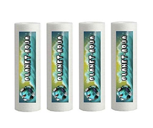 Planet-Aqua 10 x 10 Zoll Sediment Filter aus Polypropylen mit 1µ Wasserfilter Kartusche Patrone für Osmoseanlage Umkehrosmose Filteranlage Filtergehäuse Brunnen Wasser Aquarium Pumpe