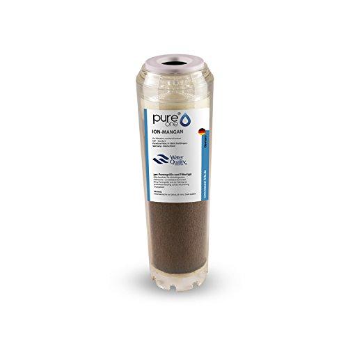PureOne ION Mangan 100 Entmanganungs-Granulat Ergänzend zu einem Enteisenungsfilter Die Wasserfilter-Kartusche f Hauswasserwerk Wasserpumpen Für 10 Zoll Wasserfilter Gehäuse Druckstabil