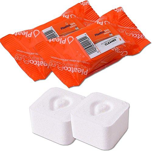 2 Stück Pleatco Filterkartuschen Kartuschenfilter Reiniger Tabletten Filterreiniger für Whirlpool Filter