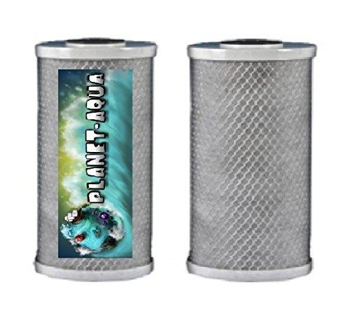 1x Aktivkohle Block Filter 5 für Wasserfilter Osmoseanlage Trinkwasser Filterkartusche Filterpatrone Umkehr Osmose Brunnenfilter Regenwasser Hauswasserwerk Poolfilter Regenwasser Aquarium Außenfilter Filtergehäuse Garten