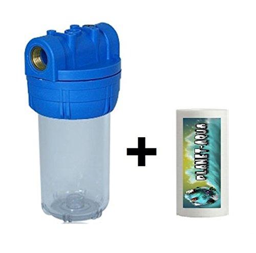 5 Zoll Filtergehäuse SET mit 34 Filter Anschluß Gewinde und 1x Sediment Block Filterkartusche mit 5µ als Wasserfilter Umkehr Osmose Poolfilter Anlage für Trinkwasser Brunnen Wasser Regenwasser Pumpenfilter Vorfilter