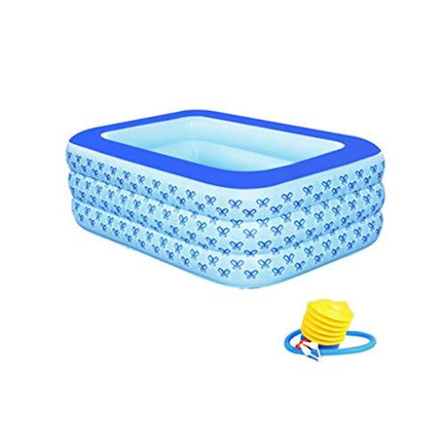 Baby - Badewanne Aufblasbaren Pool Kinderbecken Aufblasbaren Pool Für Erwachsene Badewanne farbe Blau Größe 125  88  52cm