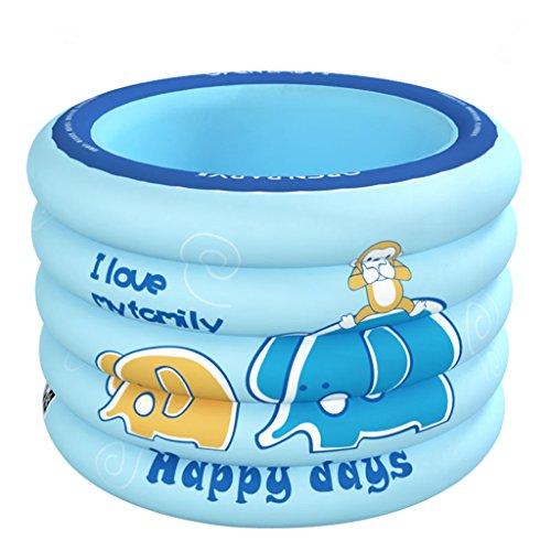 Kinderbecken Aufblasbarer Ring Pool Baby Badewanne Gepolsterte Badewanne blau  pink 100  75 cm  Color  Blue