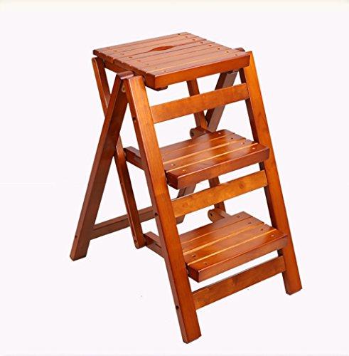 LXJYMX Festes Holz das tragbaren Trittleiter hohen Schemel der Küche entfernbarer Multifunktionsbüro-Leiterspeicher faltet Kletterleiter