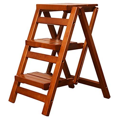 You Hao Tritthocker - Massivholz Trittleiter tragbare Rutschfeste Pedal Home Step Hocker Rutschfeste Erweiterung Multifunktions-Treppe faltbar  Farbe  Brown