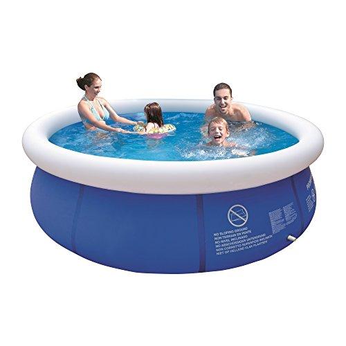 Jilong Marin Blue Rundpool Ø 300x76 cm Quick-Up Swimming Pool Fast-Set Schwimmbad Kinder und Familien Schwimmbecken Schwimmbad für Garten und Terasse Ersatzbecken ohne Zubehör