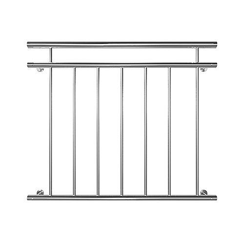 Edelstahl Französischer Balkon Geländer Balkongeländer 90 x 100 cm V2Aox