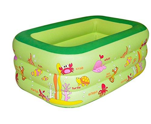 FACAI888 Trizyklische Platz aufblasbaren Pool  aufblasbares Schwimmbecken  aufblasbare Wanne  Kind Falten aufblasbare Wanne  aufblasbare Verdickung Badewanne  grün