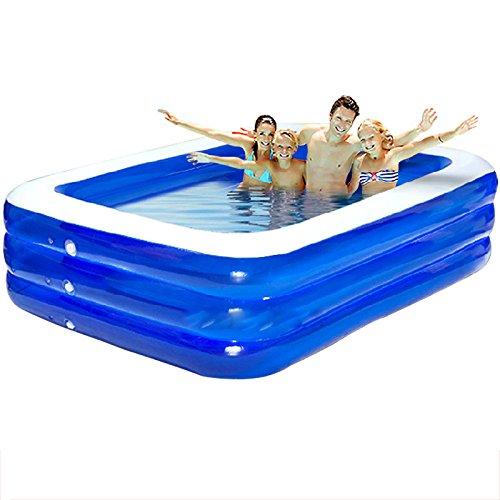 GUOHONG-CX Aufblasbares Schwimmbecken Grün PVC Kunststoff übergroße Pool Kinder Zu Hause Verdickung Baby Schwimmen Badewanne Erwachsenen Familie Baden Pool