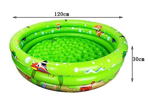 PIGE Umweltschutz PVC-Material Baby Aufblasbare Schwimmbecken Familienspiel-Pool Kinder Spiel-Pool Schwimmen Eimer Neugeborene Wanne 12030cm  Farbe  Grün  größe  12030cm