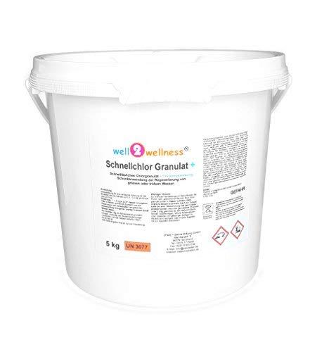 well2wellness Schnellchlor Granulat schnell lösliches Chlorgranulat 60  Flockmittel 50 kg