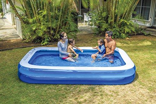 Jilong Giant Swimming Pool 305x183x50 cm Familienpool Planschbecken Kinderpool Schwimmbecken Kinder und Familien Schwimmbad für Garten und Terasse