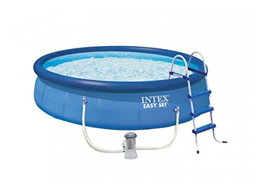 Intex Aufstellpool Easy Pool Set TÜVGS blau Ø 457 x 107 cm