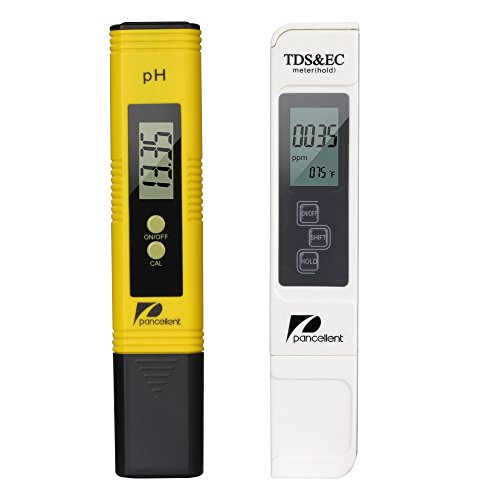 Pancellent Wasserqualitätstest Meter TDS PH 2 in 1 Set 0-9990 PPM Messbereich 1 PPM Auflösung 2 Ablesegenauigkeit Gelb