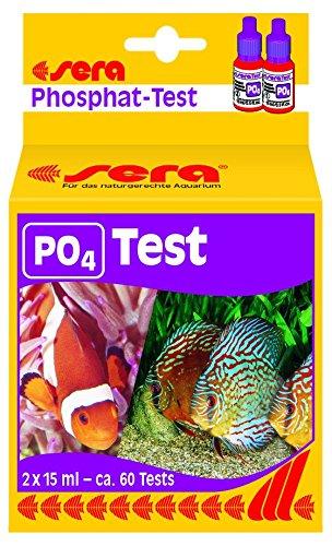 sera 04930 Phosphat Test P04 Wassertest für ca 60 Messungen misst zuverlässig und genau den Phosphatgehalt für Süß- Meerwasser im Aquarium oder Teich