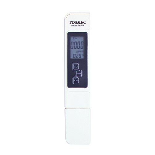 Walmeck TDS Wassertester 3 in 1 Tragbarer EC-Meter Genaues Wasser Qualität Tester