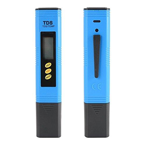 ZXX Wassertester Digitales TDS Wasserqualitätstest Messgerät mit LCD-Display Ti-Sonde PPM Temperatur TesterMesser für Filter Trinkwasser Pools Aquarium Schwimmbad Spa