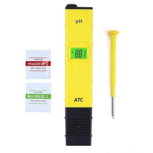 JAUTO Digital pH Meter Messgerät PH Wert Messgerät Wasser PH Tester Meter Prüfer 0-14 für Aquarium PoolSchwimmbad LandwirtschaftWein Urin Usw Keine Zubehör