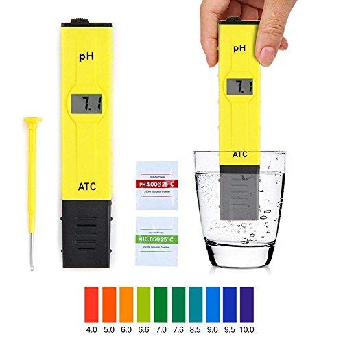 Supband Digital PH Meter Messgerät PH Wert Meter Messgerät Messer Tester mit 000-1400 für Aquarium Schwimmbecken Haushalt Labordigitalen Aquarium Pool hydroponischen Wasserlabor