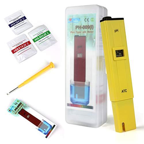 Ytian Digitales pH Messgerät mit LCD-Display tragbarer TesterMesser für Aquarium pH Tester für Urin pH Wert Meter für Pools Monitor für Aquarium und Pool Wasser