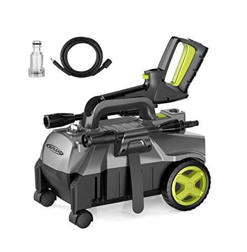 Hochdruckreiniger Autlead HP01A 1400W 100 bar 390 LH Elektrischer Hochdruckreiniger mobiler und tragbarer mit Aluminiumpumpe und einstellbarer 3-in-1 Düse für Haushalt Garten Auto