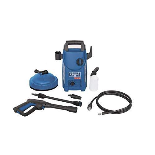 Scheppach Hochdruckreiniger HCE1500 105 bar 408 Lh 3m Schlauch 1400W Quick Connect System zum schnellen Wechseln der Aufsätze inkl 7 teiligem Zubehör-Set