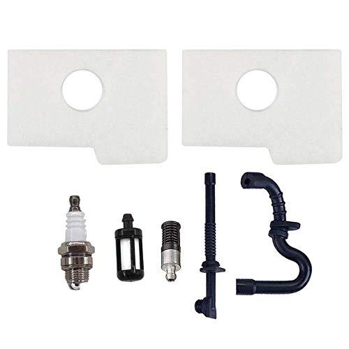 AISEN 2x Luftfilter mit Öl Benzin Filter Schlauch Zündkerze für Stihl 017 018 MS170 MS180 MS180C MS 170 180 Kettensäge