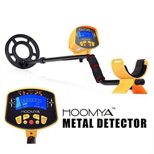 HOOMYA™ Hochempfindlicher Metalldetektor - 82 Zoll Wasserdichter Suchkopf LCD Anzeige Objekten Tiefenposition  Erkennt alle Metalle