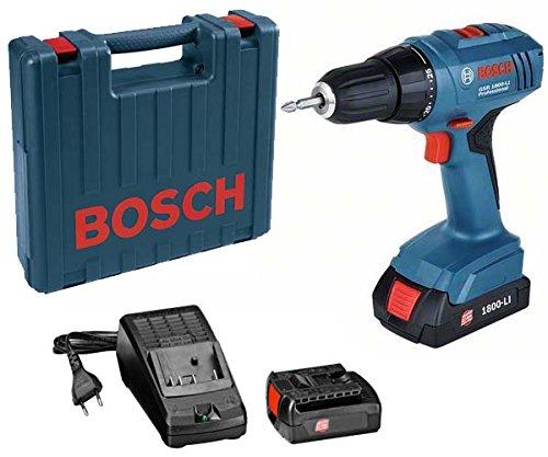 Bosch 06019E6120 Professional 18V Akkuschrauber GSR 18-2-LI Plus 2X 20 Ah Akku 1 W 18 V