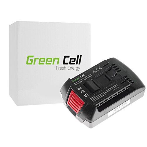 Green Cell GBA 18 BAT609 BAT610 BAT618 BAT620 1600A002U5 Akku für Bosch Elektrowerkzeug GBH 18V-LI GDR 18V-LI GKS 18V-LI GSB 18V-LI und andere kompatibel Samsung Li-Ion Zellen 15Ah 18V