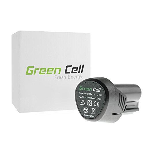 Green Cell GBA 12 BAT411 BAT415 BAT420 1600Z0002X Akku für Bosch Elektrowerkzeug GSR GSB GKS GST GWS GLI GOP und andere kompatibel mit Blau 108-12V Serie Li-Ion Zellen 2Ah 108-12V
