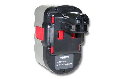 vhbw NiMH Akku 3000mAh 24V für Elektrowerkzeug Werkzeug Powertools Tools Bosch GKS 24V GLI 24V GMC 24V GSA 24V GSA 24VE GSB 24 VE-2