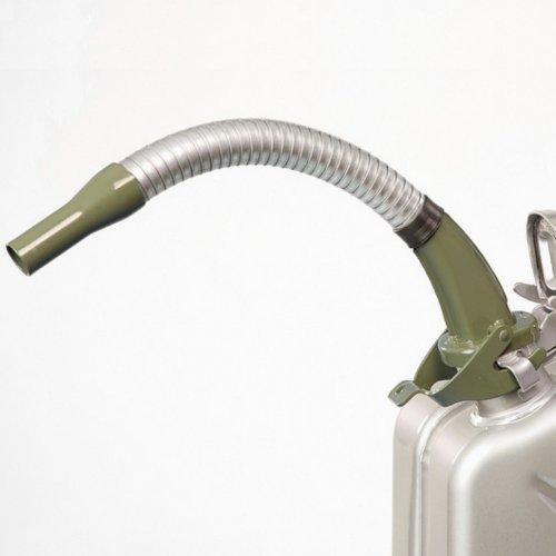 Oxid7 Ausgießer flexibel für Metall Benzinkanister Kraftstoffkanister - Olivgrün - aus Metall - passend für 5 10 und 20 Liter Metallkanister