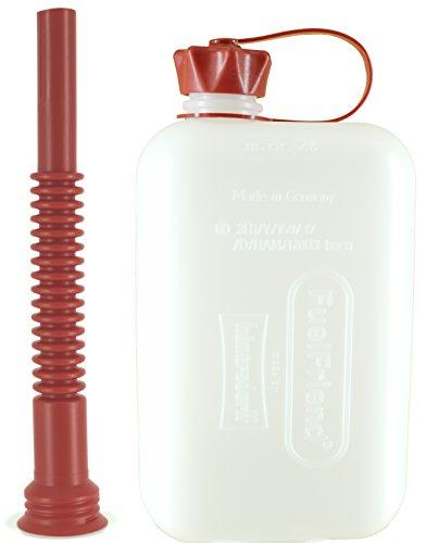 FuelFriend-Big Clear max 20 Liter - Klein-Benzinkanister Mini-Reservekanister mit UN-Zulassung  Flexibles Auslaufrohr
