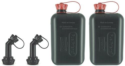 FuelFriend-Big max 20 Liter - Klein-Benzinkanister Mini-Reservekanister mit UN-Zulassung  verschließbares Auslaufrohr - im Doppelpack