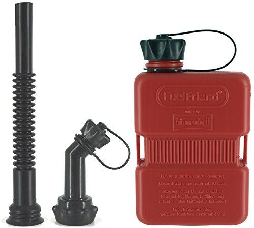 FuelFriend-Plus 10 Liter - Klein-Benzinkanister Mini-Reservekanister  Auslaufrohr-Set