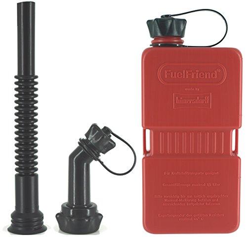 FuelFriend-Plus 15 Liter - Klein-Benzinkanister Mini-Reservekanister  Auslaufrohr-Set