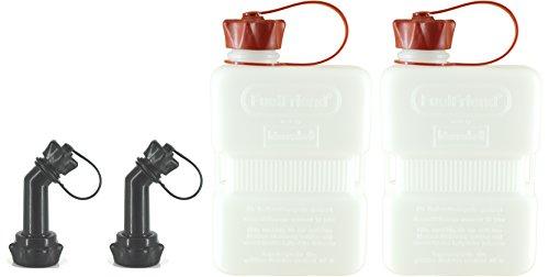 FuelFriend-Plus Clear 10 Liter - Klein-Benzinkanister Mini-Reservekanister  verschließbares Auslaufrohr - im Doppelpack