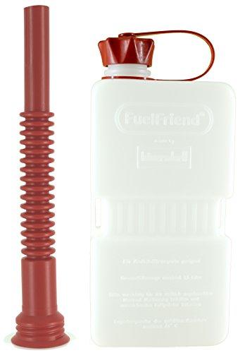 FuelFriend-Plus Clear 15 Liter - Klein-Benzinkanister Mini-Reservekanister  Flexibles Auslaufrohr