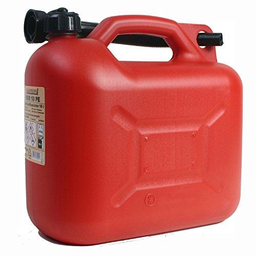 Benzinkanister KKR 10 PE 10 Liter rot Reservekanister mit Ausgiessrohr