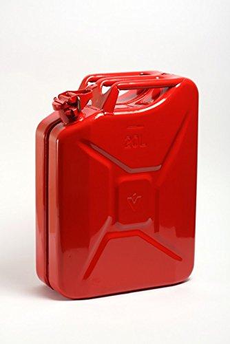 STAHLBLECH-BENZINKANISTER 20 Liter Rot